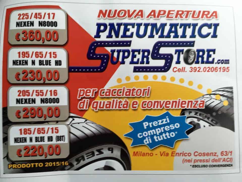 Pneumatici Super Store Milano